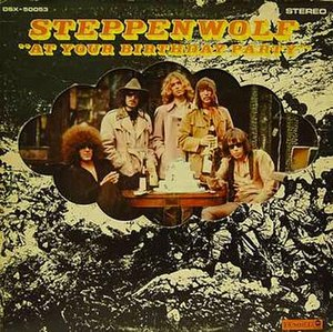 Nick St. Nicholas - Album Cover Steppenwolf at Your Birthday Party. Nick St. Nicholas, centered, appeared prominently on Steppenwolf record album covers.
