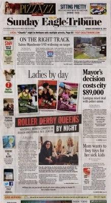 Sunday Eagle-Tribune front page