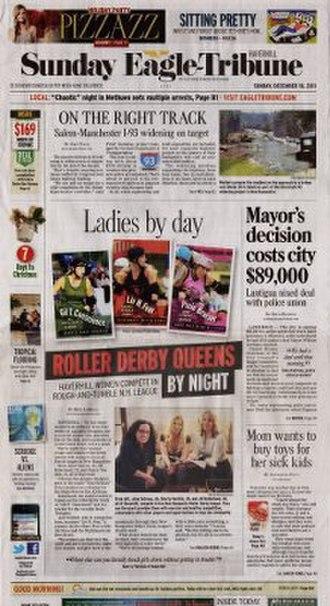 The Eagle-Tribune - Image: Sunday Eagle Tribune front page