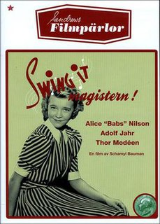<i>Swing it, magistern!</i> 1940 film directed by Schamyl Bauman