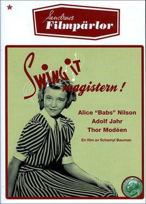 Swing it, magistern! - Swedish DVD-cover