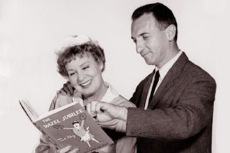 Ted Key - Ted Key with actress Shirley Booth; the latter is outfitted in the maid's uniform she wore on television as Hazel.