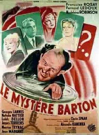 The Barton Mystery (1949 film) - Image: The Barton Mystery (1949 film)