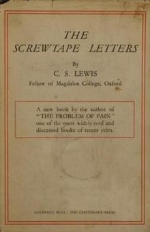 photo relating to The Father's Love Letter Printable known as The Screwtape Letters - Wikipedia