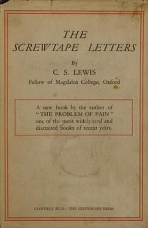 The Screwtape Letters - First edition dust wrapper