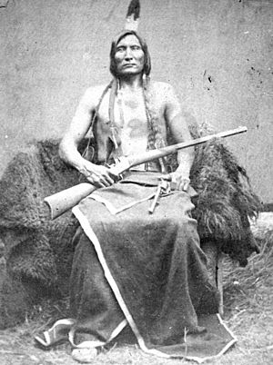Miniconjou - Touch the Clouds, by James H. Hamilton, taken at the Spotted Tail Agency, Nebraska, in the fall of 1877, Miniconjou chief