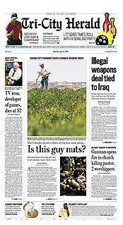 <i>Tri-City Herald</i> newspaper in Kennewick, Washington
