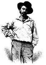 Walt Whitman, age 37, frontispiece