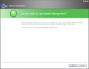 "Windows Speech Recognition - A prototype speech recognition Aero Wizard interface seen in Windows Vista (then known as ""Longhorn"") build 4093."