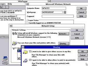 Windows 3.1x - Network capabilities of Windows for Workgroups 3.11