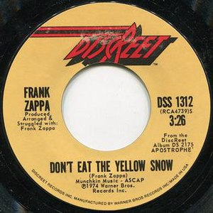 Don't Eat the Yellow Snow Suite - Image: Yellow Snow Rubs It Disc