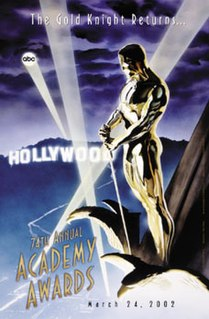 74th Academy Awards Award ceremony presented by the Academy of Motion Picture Arts and Sciences for achievement in filmmaking in 2001