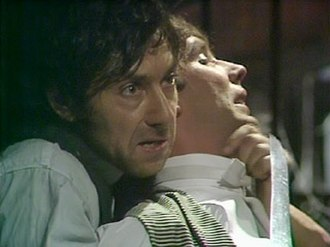 Edward Barnes (Upstairs, Downstairs) - Alfred Harris (with a knife) holds Edward Barnes hostage at knifepoint.