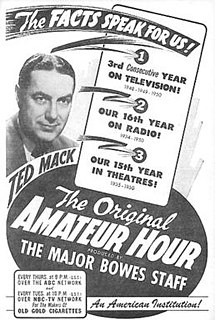 <i>The Original Amateur Hour</i> American radio series that later moved to television