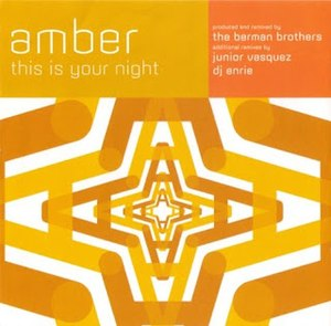 This Is Your Night (song) - Image: Amber Your Night single cover