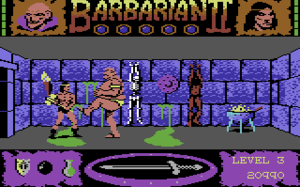 Barbarian II: The Dungeon of Drax - Barbarian II adopted an adventure format in which the protagonist explores locales to reach his goal, fighting monsters in his way.
