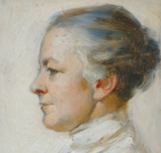 Blanche Athena Clough - by A. J. Pertz (detail of painting at Newnham)