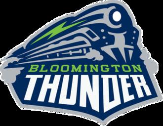 Central Illinois Flying Aces - Image: Bloomington Thunder USHL Primary