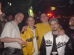 "B.U.G. Mafia -  B.U.G. Mafia at Club Dumars in Bucharest in 2003 at the ""Băieţii Buni"" (The Goodfellas) release party."