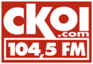CJTS-FM - CKOY's last logo as a CKOI station, 2009-2011.