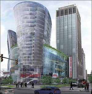 Cadillac Centre - An artist's rendering of the proposed Cadillac Centre
