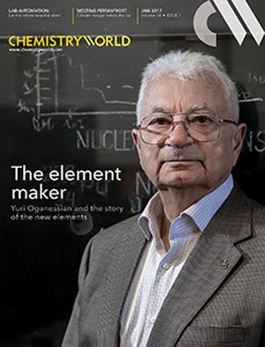 Chemistry World - Image: Chemistry World magazine, outside front cover, January 2107, Yuri Oganessian