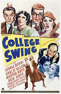 <i>College Swing</i> 1938 film by Raoul Walsh