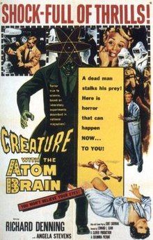 Creature with the atom brain 1955 poster.jpg