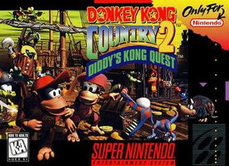 Donkey Kong Country 2: Diddy's Kong Quest - North American SNES box art