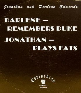 <i>Darlene Remembers Duke, Jonathan Plays Fats</i> 1982 studio album by Jo Stafford and Paul Weston