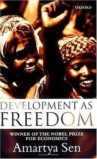 <i>Development as Freedom</i> book by Amartya Sen