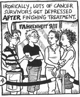 <i>Dykes to Watch Out For</i> comic strip drawn by Alison Bechdel