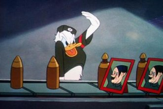 Donald Duck - Donald worked in a Nazi factory in Der Fuehrer's Face (1943)