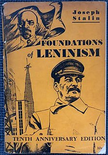 <i>Foundations of Leninism</i> 1924 publication written by Joseph Stalin