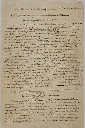 First page from the manuscript explaining the General Theory Of Relativity