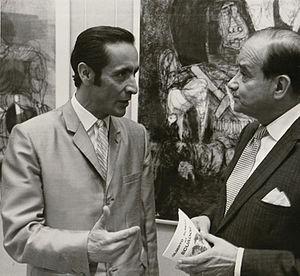 Gilberto Almeida -  Gilberto Almeida at Pan-American Union exhibit, 1969. From Organization of American States photo