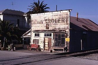 Alviso, San Jose - Image: Haines Grocery Alviso 1981 medium size