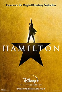 <i>Hamilton</i> (2020 film) 2020 musical of the 2015 Broadway musical of the same name