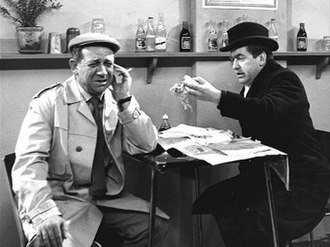 Sid James - Tony Hancock (right) with James in Hancock's Half Hour
