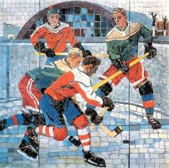 """Aleksandr Deyneka - """"Hockey Players"""", mosaic, 1959 - 1960"""