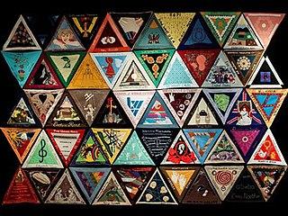 <i>International Honor Quilt</i> Installation artwork by feminist artist Judy Chicago