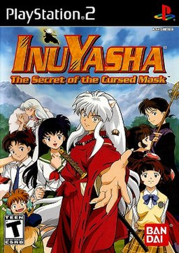 Inuyasha: The Secret of the Cursed Mask North American game cover