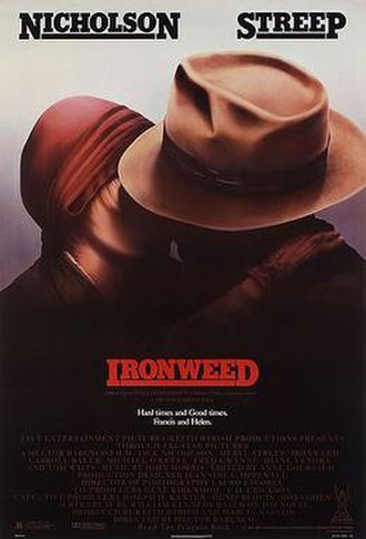 Ironweed (film) - Theatrical release poster by John Alvin