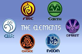 Irish Scout Jamboree - The six elements logos that were placed all over the campsite and were printed on staff T-shirts, many sub-camps did not have this facility