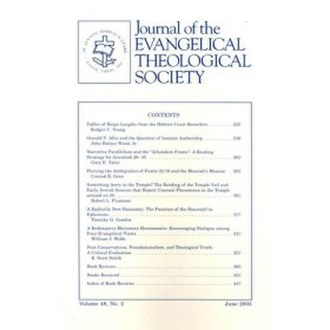 Journal of the Evangelical Theological Society - Image: Journal of the Evangelical Theological Society