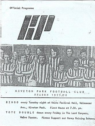 Kiveton Park F.C. - A Kiveton Park programme cover from 1977
