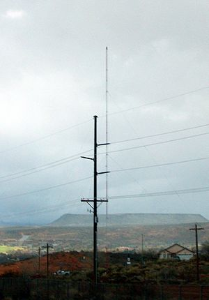 KHKR - The radio tower for KHKR outside St. George, Utah