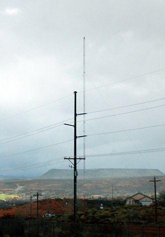 KHKR - The radio tower for KHKR outside St. George, Utah