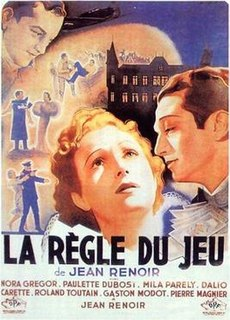 <i>The Rules of the Game</i> 1939 French film directed by Jean Renoir