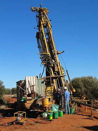 Multi-combination drilling rig (capable of both diamond and reverse circulation drilling). Rig is currently set up for diamond drilling. Layne Rig57.jpg